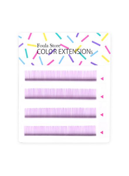 彩色單根 4列 (粉紫色)
