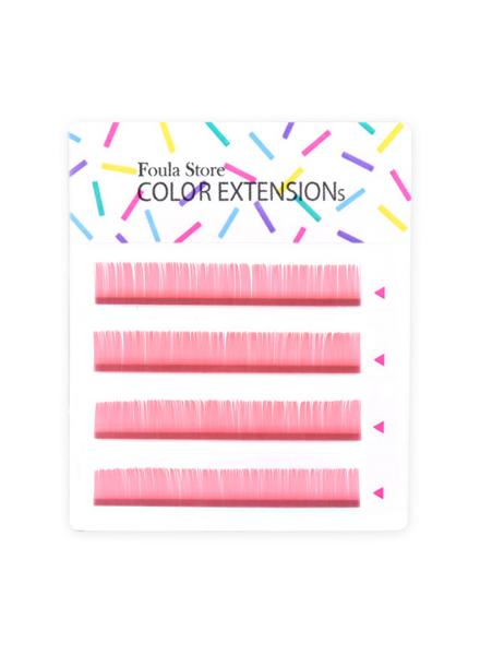 彩色單根 4列 (粉色)