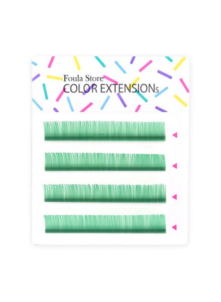 彩色單根 4列 (藍綠色)