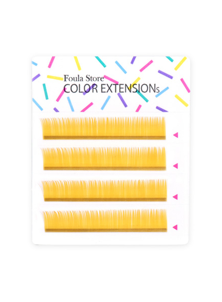 彩色單根 4列 (淺金色)