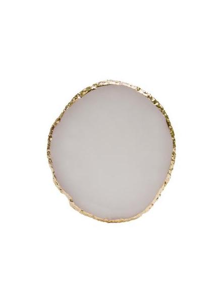 精緻瑪瑙膠水盤 白色