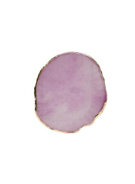 精緻瑪瑙膠水盤 紫色